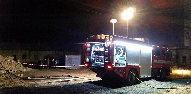 Po požáru za místním nádražím vProstějově našli ohořelé tělo muže