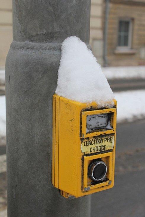 Sněhová nadílka v centru Prostějova