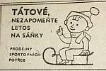 Výstřižek z vánočního vydání prostějovské Stráže lidu z roku 1961