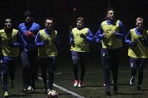 První trénink prostějovských fotbalistů v rámci zimní přípravy 2018