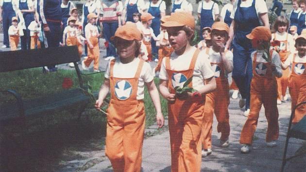 Kralice na Hané - spartakiáda v roce 1985