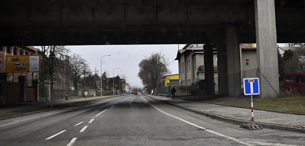 Vrahovická ulice v Prostějově, se od pondělí 22. března uzavřela pro dopravu na čtyři měsíce. 22.3. 2021