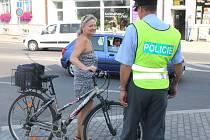 Policisté kontrolovali ve čtvrtek dopoledne cyklisty
