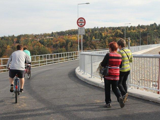 Hráz plumlovské přehrady po rekonstrukci