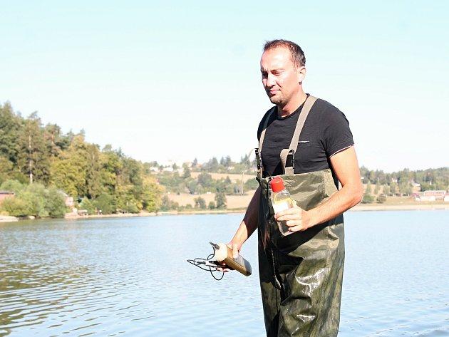 Měření kvality vody na plumlovské přehradě - 13. 8. 2018