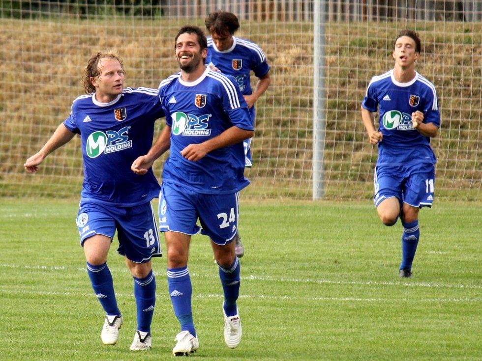 Radost prostějovských fotbalistů