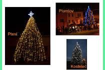 Tři nejkrásnější vánoční stromy na Prostějovsku podle hlasování čtenářů Prostějovakého deníku
