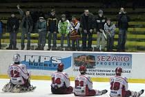 Prostějovští hokejisté se zdraví s fanoušky