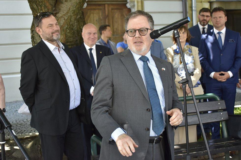 Velvyslanec státu Izrael Daniel Meron v Prostějově