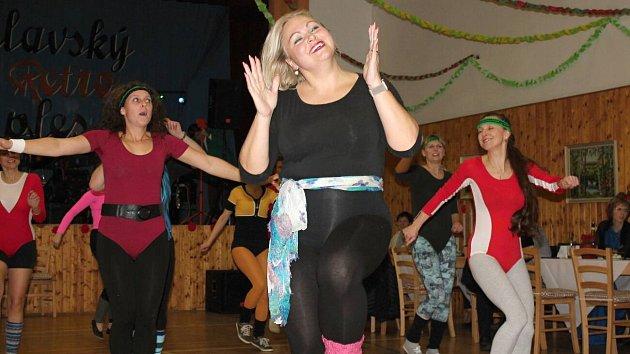 Obecní ples ve Vrchoslavicích vretro stylu