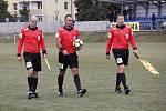 Fotbalisté Prostějova (ve světlém) prohráli s Českými Budějovicemi 0:1.