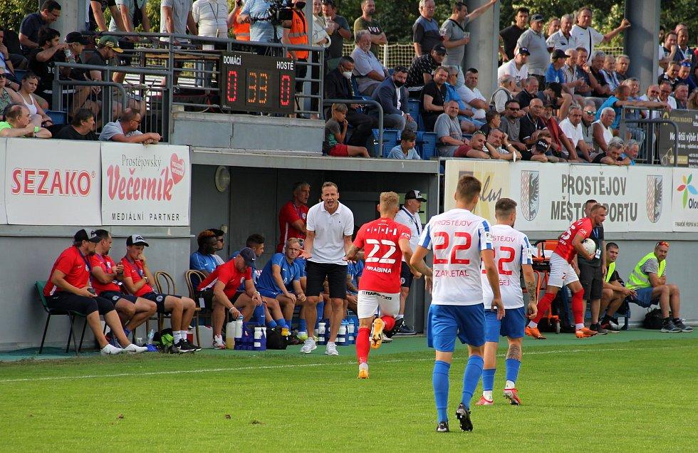 Prostějov ve druhé lize překvapivě porazil Brno 2:0. Jiří Jarošík