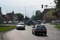 Křižovatka Olomoucká - Sladkovského - Barákova
