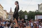 Na náměstí T.G. Masaryka v Prostějově proběhla ve čtvrtek v podvečer módní přehlídka místních firem.