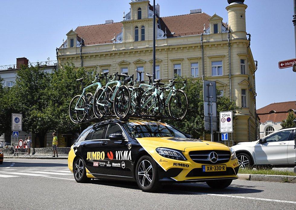 Czech cycling tour 2020 - start druhé etapy v Prostějově. 7.8. 2020