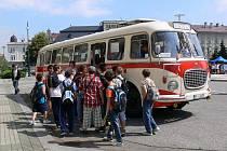 Jízda historickým autobusem v centru Prostějova a další dětské aktivity