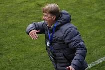 Trenér Prostějova Oldřich Machala.