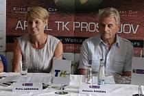 Tisková Konference k tenisovému MS seniorů v Prostějově - Petra Langrová a Antonín Doseděl