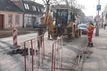 Uzavírka Plumlovské ulice v Prostějově