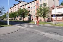 Vylepšení se dočká i přechod u křižovatky Olomoucká a Šafaříkova.