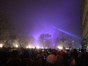Mlha pokazila ohňostroj v Prostějově