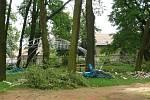 Následky bouře ve Víceměřicích