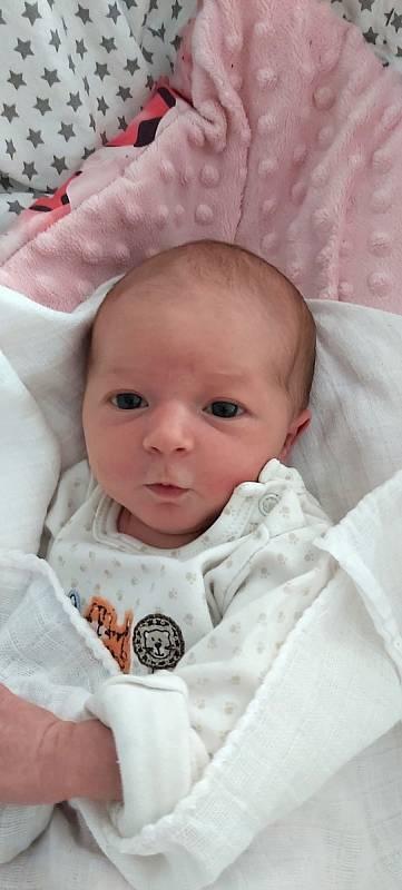 Patricie Dudová, Přerov, narozena 3. července 2021 v Přerově, míra 47 cm, váha 2824 g