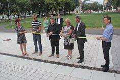Prostějovští politici slavnostně zakončili rekonstrukci náměstí Spojenců.