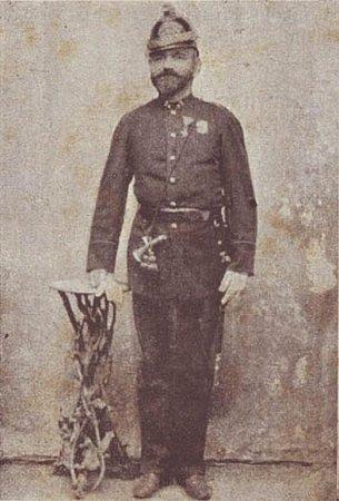První velitel hasičů zOtaslavic Jan Kopa. Klikněte pro zvětšení.