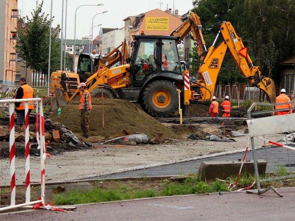 Opravy Olomoucké ulice v Prostějově. Uzavírka potrvá do 8. září