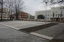 Náměstí Spojenců v Prostějově v březnu 2018