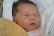 Laura Koudelková, Určice, narozena 17. října v Prostějově, míra 51 cm, váha 3600 g