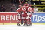 Prostějovští hokejisté (v červeném) prohráli s Benátkami nad Jizerou 4:5