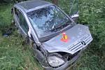 Nehoda mercedesu mezi Šubířovem a Konicí