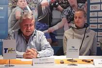 Tenisová tiskovka - Miroslav Černošek a Petra Kvitová