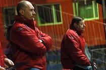 Trenéři Prostějova: Aleš Tomášek (vlevo) a Svatopluk Kosík (vpravo).