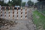 Stavba kanalizace ve Vícově