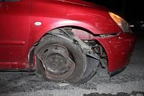 Nehoda opilého řidiče v Hamrech