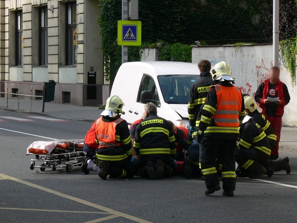 Vážná nehoda na Vápenici v Prostějově
