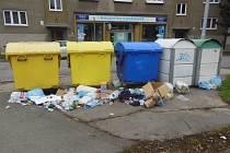 V Prostějově během roku 2013 někteří lidé odpad třídili podle svého, někde kontejner na tříděný odpad rovnou podpálili.