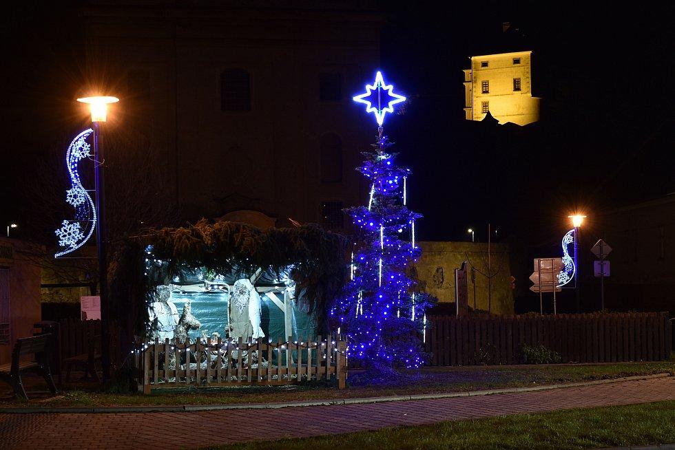 Vánoční strom v Úsově.