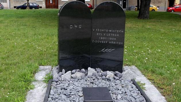 Připomínka židovského hřbitova ve Studentské ulici v Prostějově