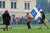 Bitva v zámeckém parku v Čechách pod Kosířem. Ilustrační foto