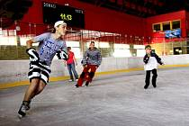 Letní bruslení na prostějovském zimním stadionu