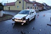 Následky nehody v Domamyslicích