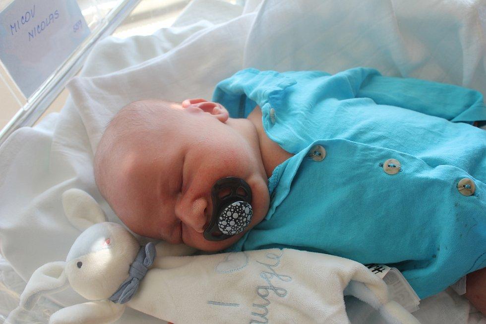 Nicolas Micov, Prostějov, narozen 2. září 2019 v Prostějově, míra 53 cm, váha 4450