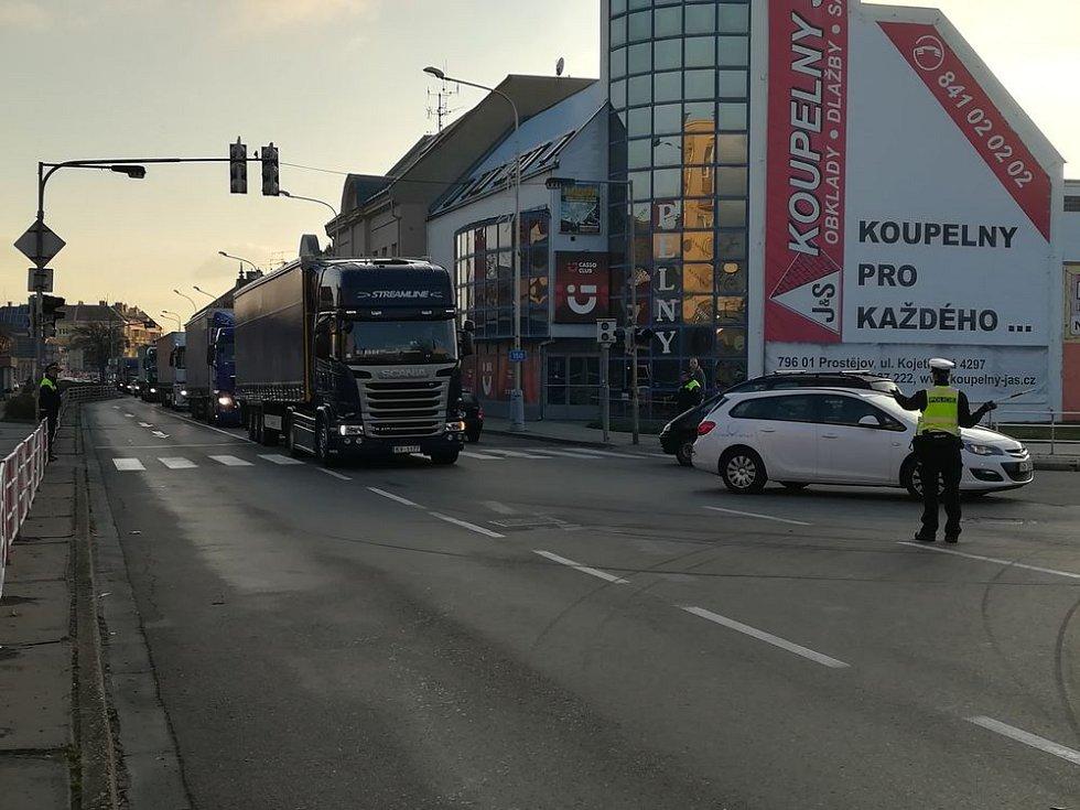 Objížďka - Wolkerova a Brněnská ulice