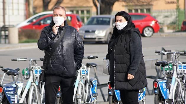 Centrum Prostějova v době pandemie koronaviru