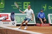 Závěrečný den prostějovského tenisové turnaje nabídl také exhibici zlatých olympioniků. Jan Železný