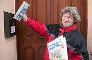 Radek, muž bez domova,  pomáhá s distribucí Deníku